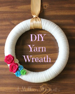 How to make a yarn wreath | by MillionMoments
