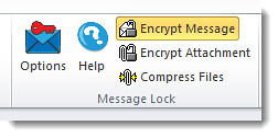 MessageLock integration with Outlook 2010   by Encryptomatic