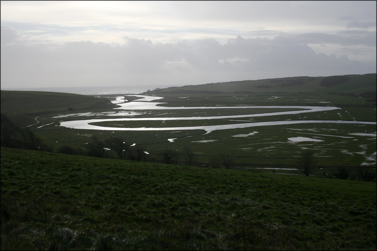 The Cuckmere river at Exceat