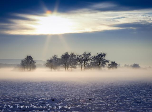 Winter snow - sunset