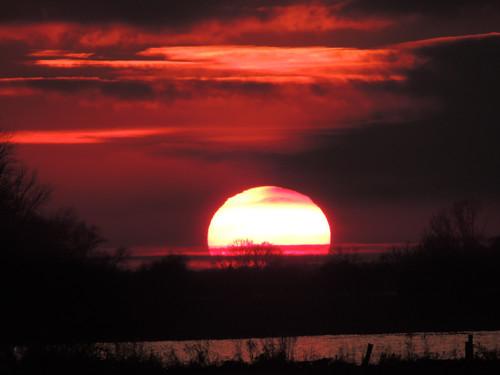 sun sunrise sonne elbe abendrot sabine1955