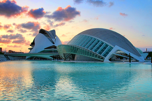 Sunset in the City of Arts and Sciences, Valencia, Spain | by o palsson
