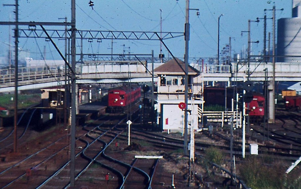 Two Tait Trains at Sunshine  1978 by Rodney S300