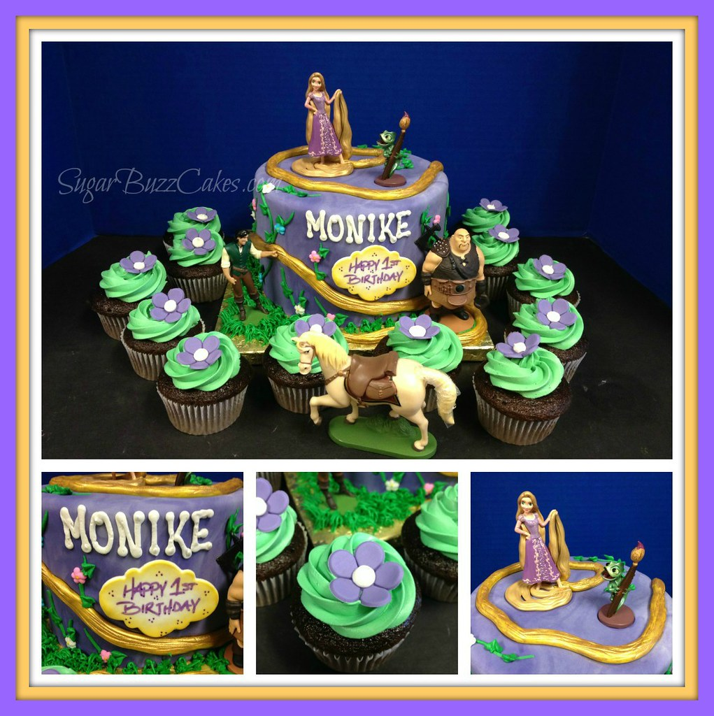 Excellent Rapunzel Birthday Cake A Photo On Flickriver Personalised Birthday Cards Veneteletsinfo