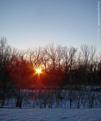 morning trees winter snow sunrise woods december wintersolstice kansas 2012 overlandpark indiancreek joco sunrising johnsoncounty firstdayofwinter kansascitymetro december2012 kcmetro wintersolsticesunrise