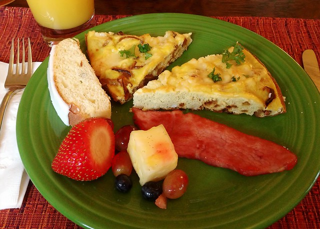 Frittata and ham brunch
