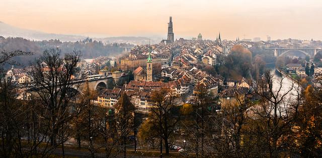 Old Town Bern Switzerland - Panorama view