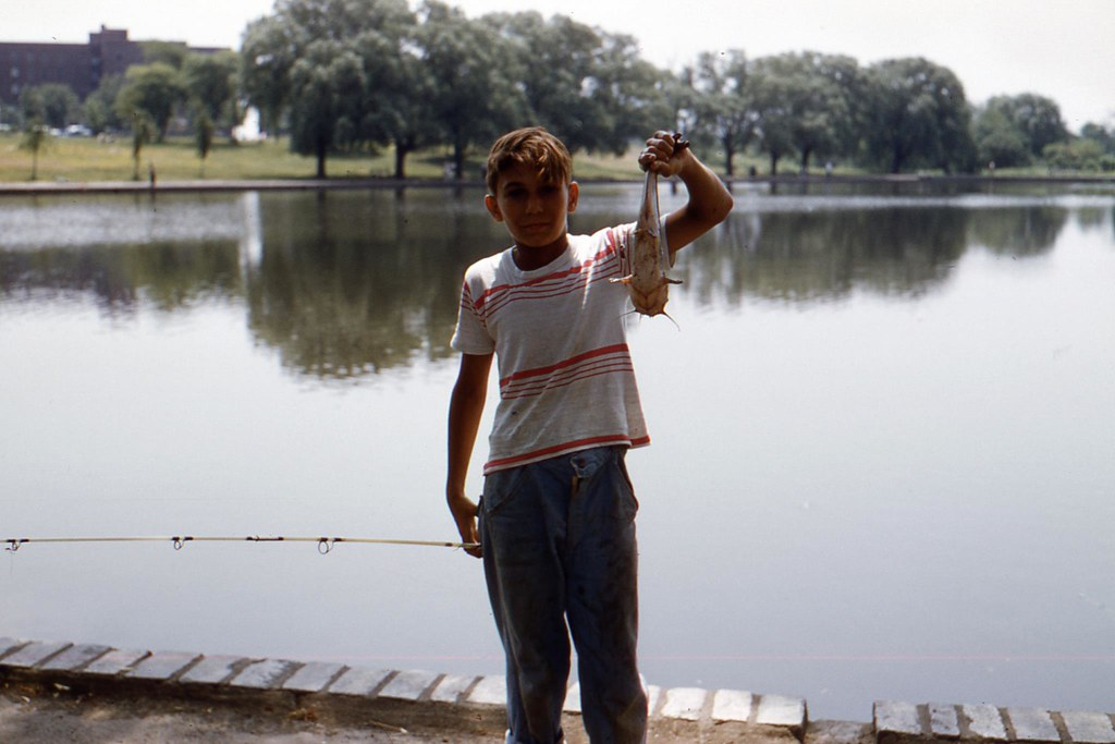1958 - fishing on Woodcliff Lake in North Hudson Park | Flickr