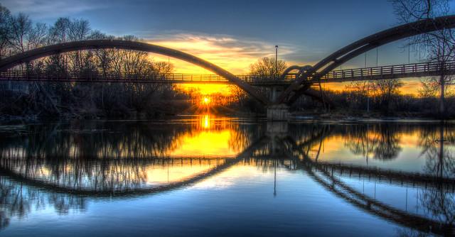 Chippewa River Sunset Dec 25, 2012