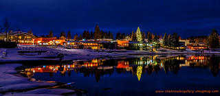 Mccall and Payette Lake night reflection | by The Knowles Gallery