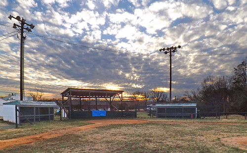 park county sunset orange clouds virginia us va ballpark 2013
