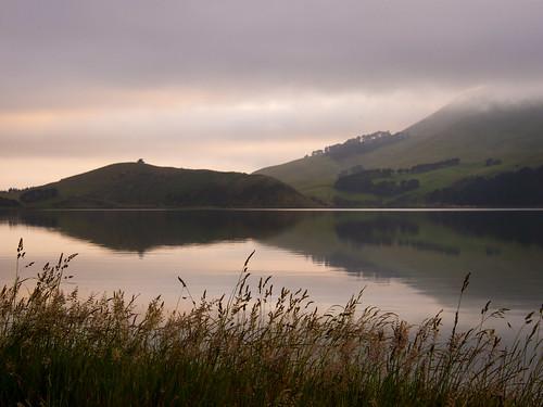 mist reflections otago inlet peninsula hoopers