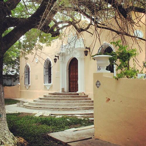 The entrance to my old high school in Mexico. Colegio Modelo #merida #Mexico #Yucatan