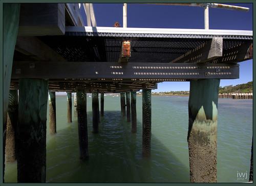 Beneath the pier at Corinella, Bass Coast, Western Port Bay, Victoria.