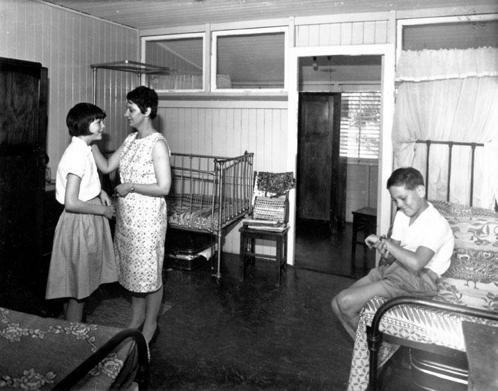 Family accommodation at Yungaba Migrant Hostel, 16 November 1967
