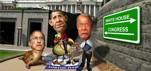 Riding the Lame Duck to the Fiscal Cliff | by DonkeyHotey