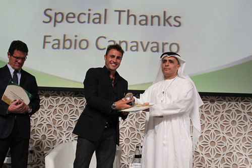 Fabio Cannavaro and Mattar Al tayer