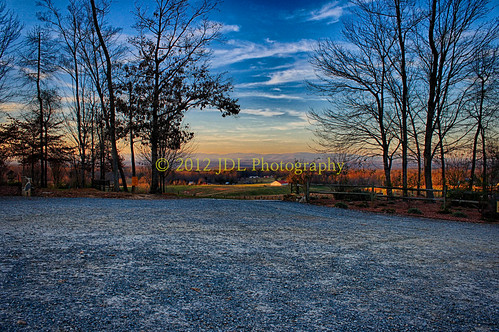sunset vineyard northcarolina hdr