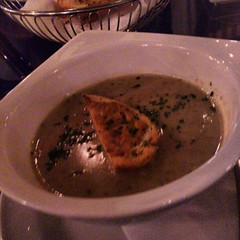 Roasted onion and bacon velouté...