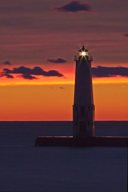 Sunset at Frankfort Lighthouse