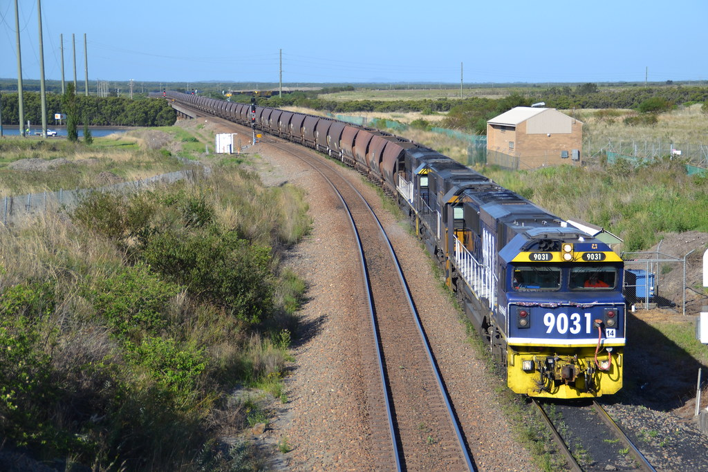 9031-9034-9020 empty PN coalie leaving Kooragang by LOCOPOWER