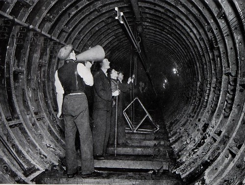 Laying 300ft rail lengths in tube | by The National Archives UK