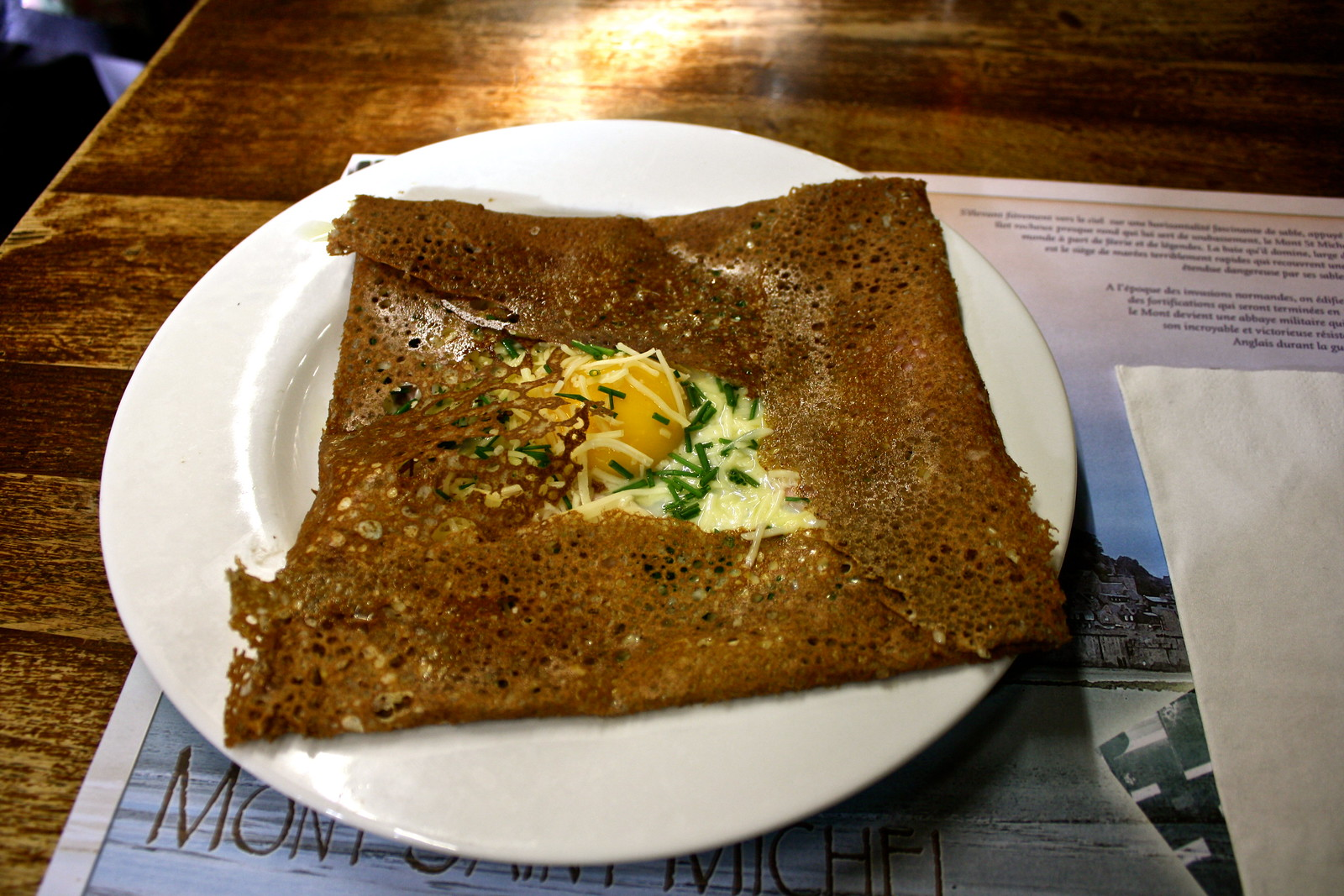 Galette eaten at Mont-Saint-Michel, France