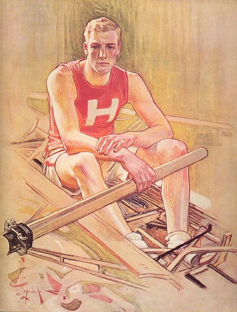 J.C. Leyendecker:  1906 Harvard Rowing