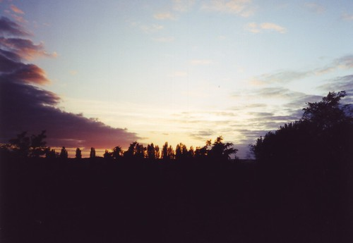 sunset sky nature clouds