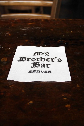 "Napkin of ""My Brother's Bar"" 