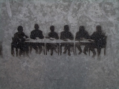 Meeting room stencil graffiti | by clagnut