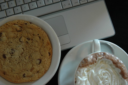 cookie, cocoa, computer | by bookgrl