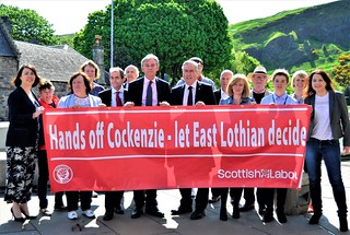 Handing in Cockenzie substation petition at Parliament | by Iain Gray MSP
