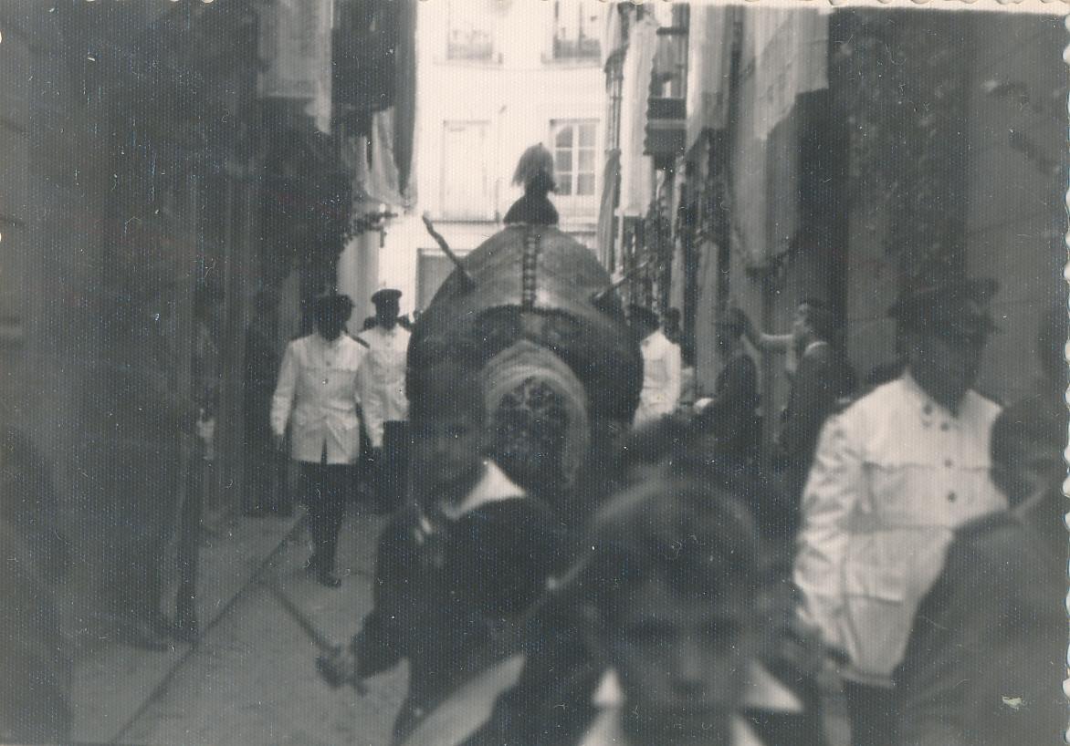 Tarasca en la Procesión del Corpus Christi en Toledo en 1962. Fotografía de Julián C.T.
