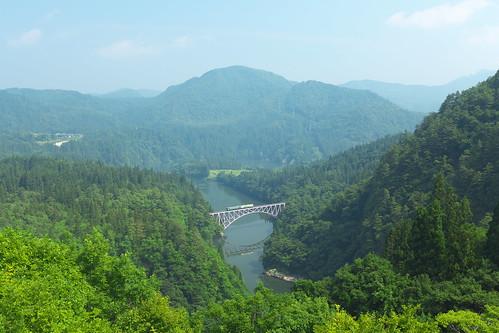 夏の第一只見川橋梁 (D)