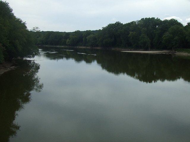 Wabash River view from Davis Ferry Bridge