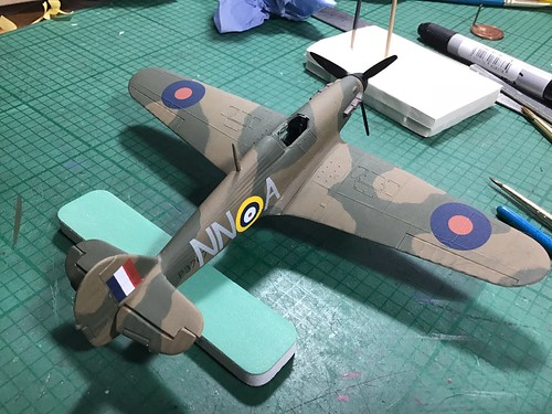 Airfix 1/72 Hawker Hurricane | by Snaptophobic