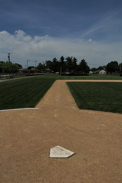 Down the third-base line
