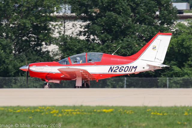N2601M - 1997 build PZL-Mielec M-26 Iskierka/Air Wolf, arriving on Runway 36R at Oshkosh during Airventure 2018