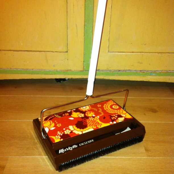 Brand new vintage C. A. Breger floor and carpet sweeper