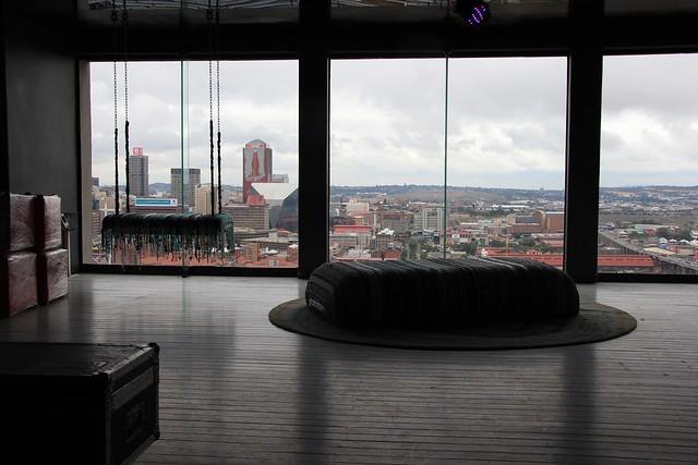 Lounge overlooking Jo'burg CBD - Johannesburg, South Africa, 2012