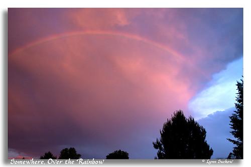 sunset usa clouds washington rainbow treetops wa wallawalla 0329