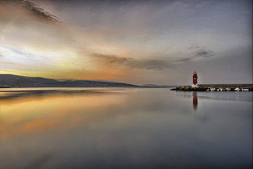 sunrise lighthouse red water sea landscape krk croatia beautiful nikon nikond750 hrvojesimich gazzda nikkor283003556