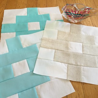 Woven blocks in beach colors for Mary S.