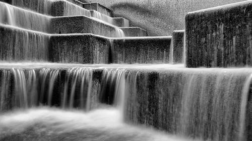 blackandwhite bw wet water monochrome sanantonio stairs mono waterfall texas fuji steps slowshutter fixed fixedlens x100 digitalvisual fujix100