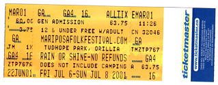 Mariposa Folk Festival (July 2001)
