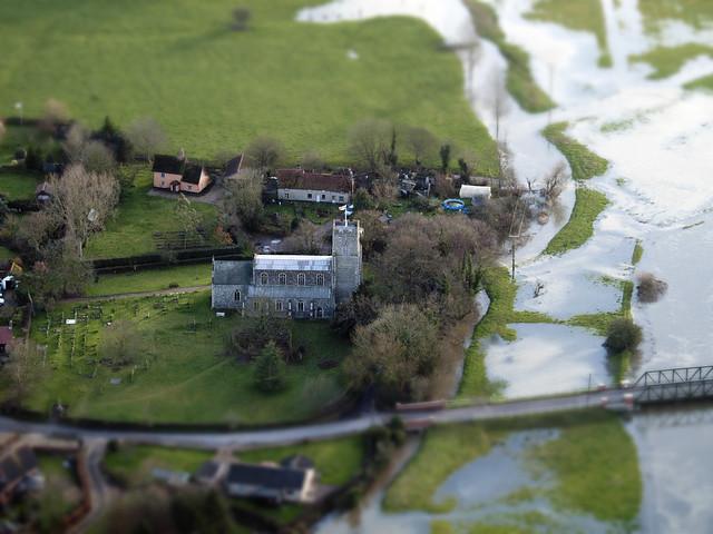 Mendham - Suffolk UK aerial image