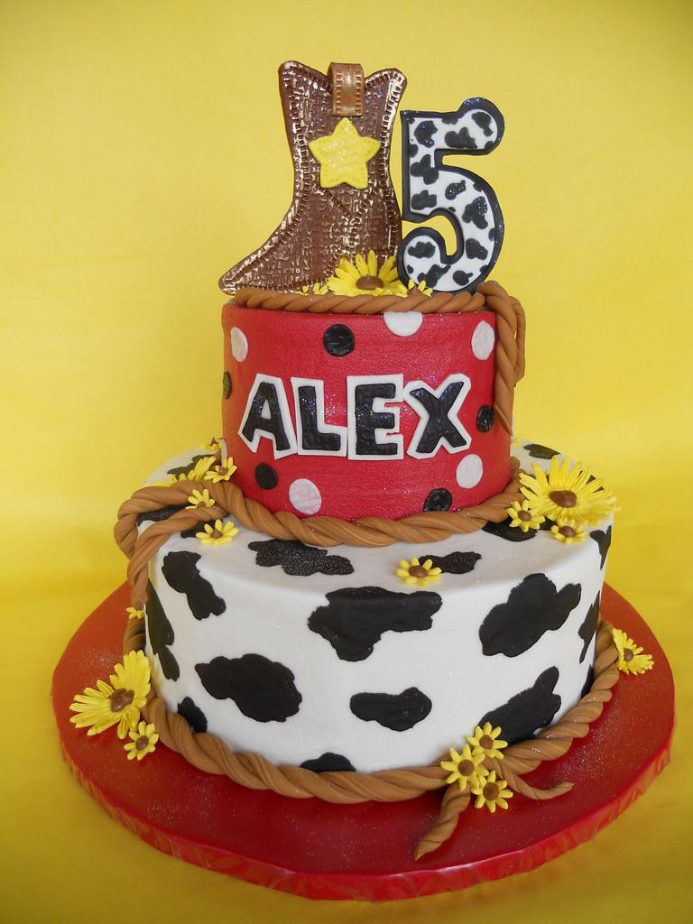 Enjoyable Cowgirl Birthday Cake Amy Stella Flickr Personalised Birthday Cards Bromeletsinfo