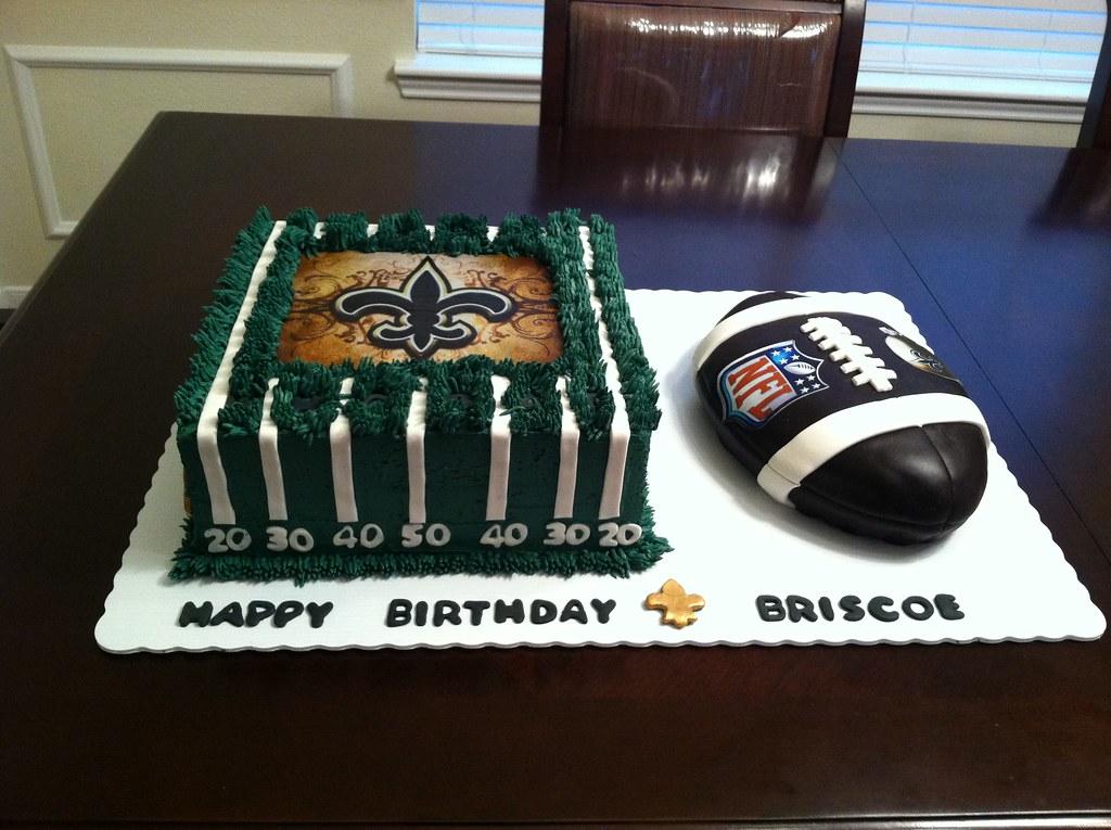 Awe Inspiring New Orleans Saints Football Cake New Orleans Saints Footba Flickr Personalised Birthday Cards Veneteletsinfo