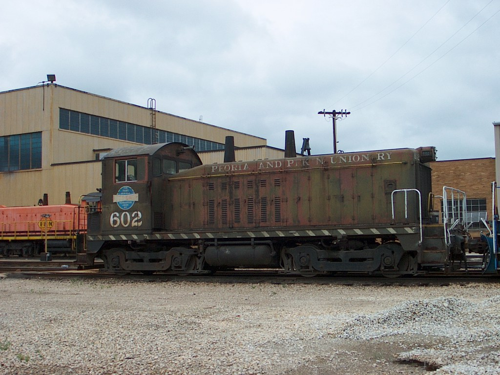 Peoria and Pekin Union 602 waits for a workout at East Peoria Illinois on 6-28-2007